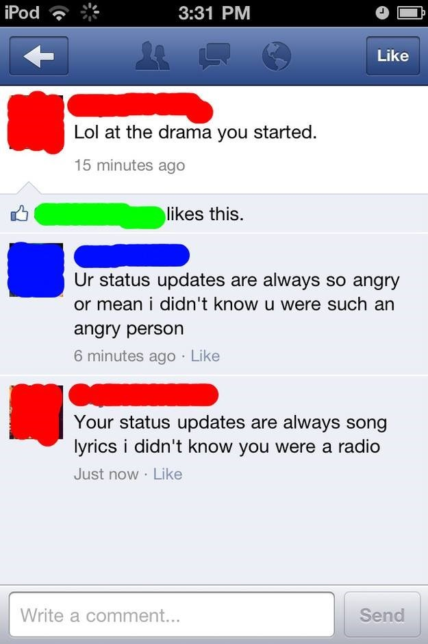 girl gets burned for being a radio on facebook