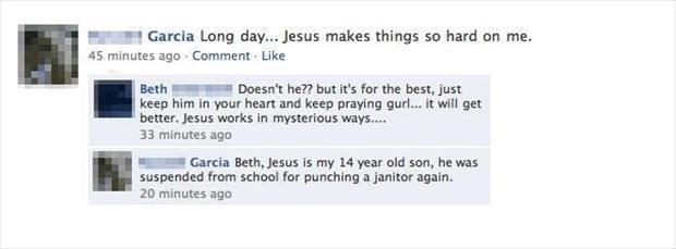 jesus gets in trouble at school again