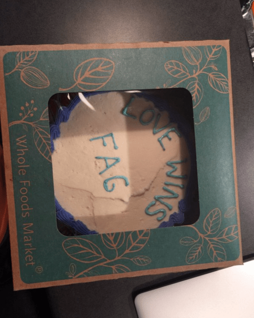 lgbtq cake whole foods Whole Foods Is Suing the Man Who Claimed They Sold Him a Cake Decorated With a Homophobic Slur