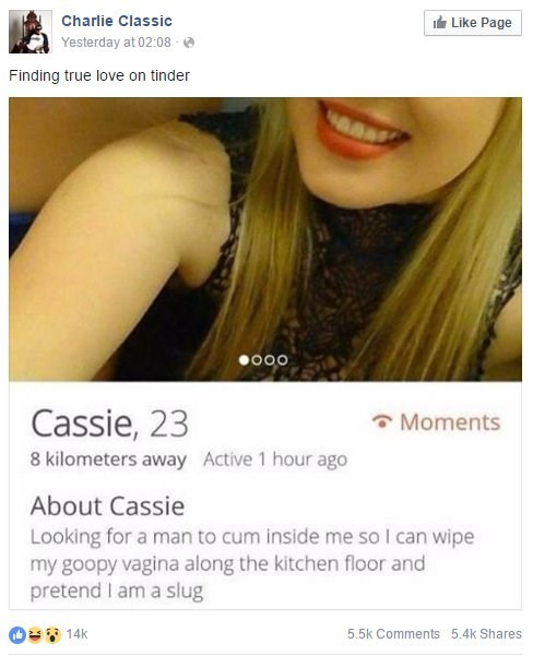 Fetish,tinder,facebook