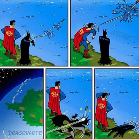 web-comics-superman-clark-kent-batman-rock-skipping-fatality