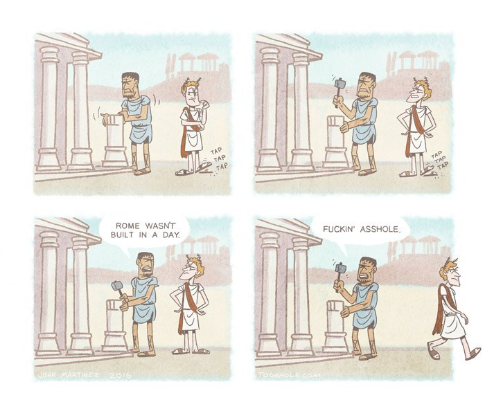 rome-building-impatient-supervisor-joke-comic