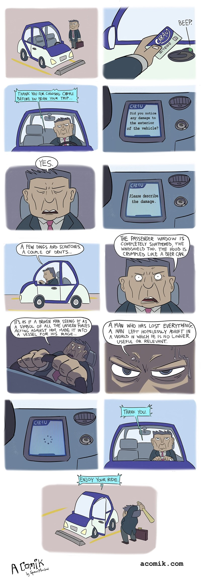 rage car technology angry web comics - 8772820224