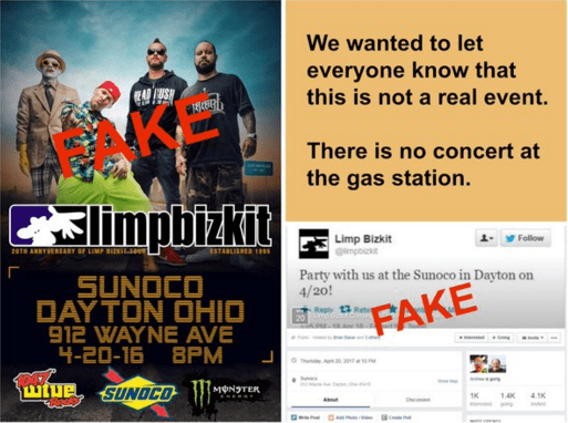 prank limp bizkit concert A Prankster Made Dayton, Ohio Believe Limp Bizkit Was Coming to a Local Gas Station for a Concert