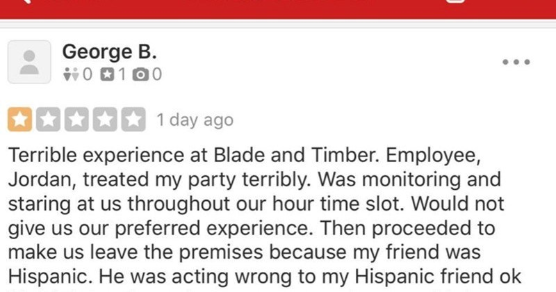 """Customer complains about business owner being """"racist"""" but then gets called out for lying."""
