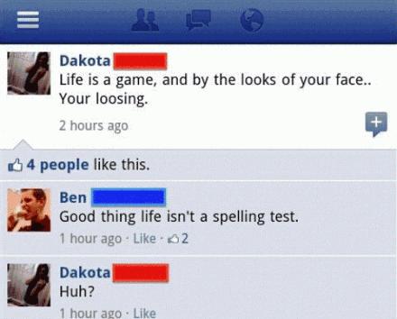 spelling error makes life is spelling test