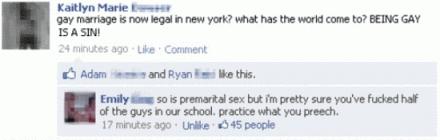 gay marriage facebook premarital sex status burn