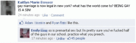 gay marriage facebook premarital sex status burn