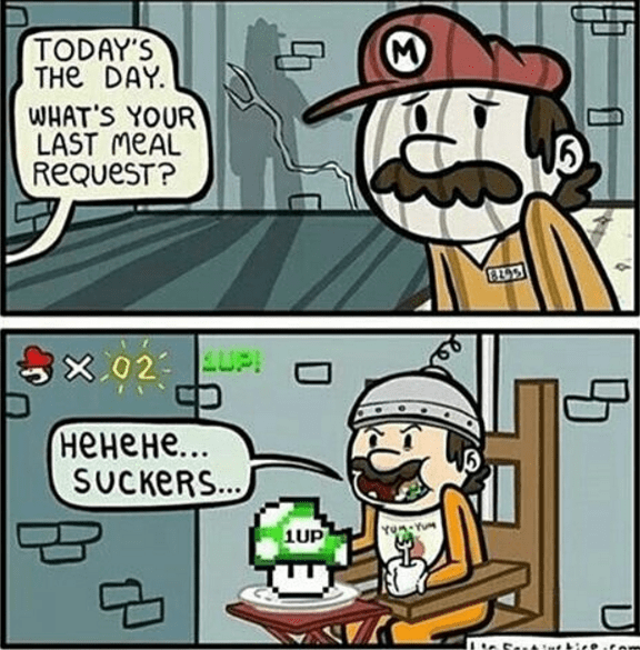 mario-nintendo-video-game-logic-last-feast-magic-mushroom