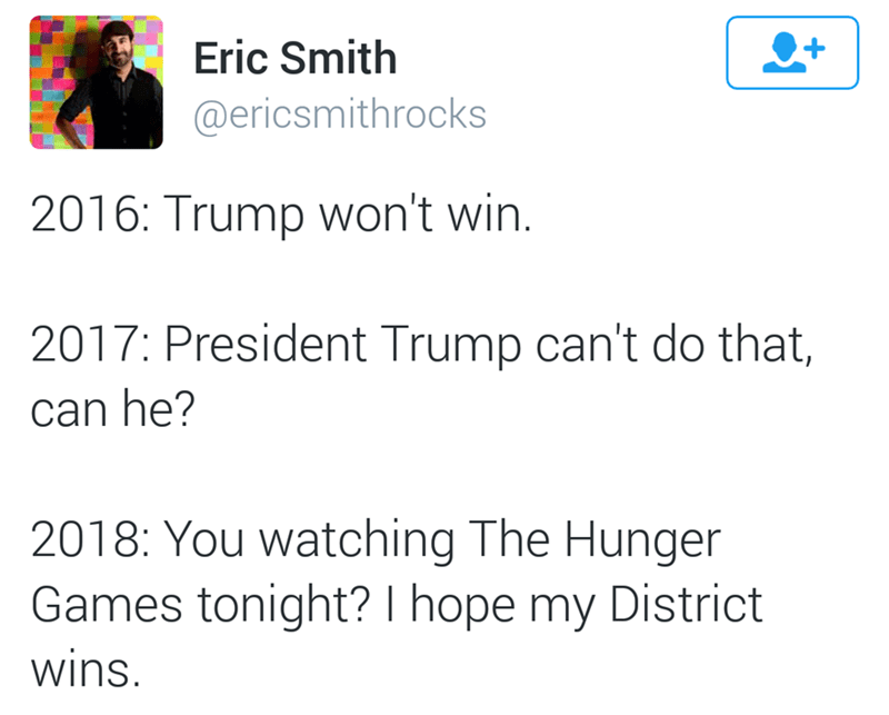 hunger games donald trump future We Could Really Use the Extra Food Rations