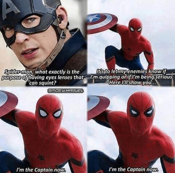 superheroes-captain-america-spiderman-trolling-moment