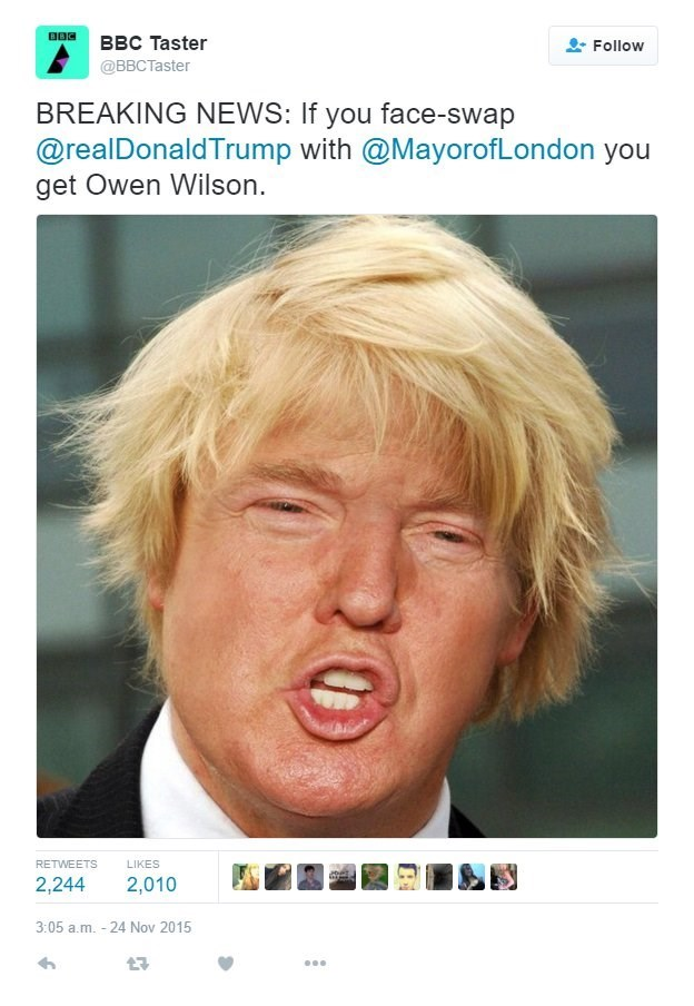 twitter,donald trump,London,face swap