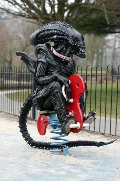 alien rocking horse image Just Thought I'd Take My Dog to the Park