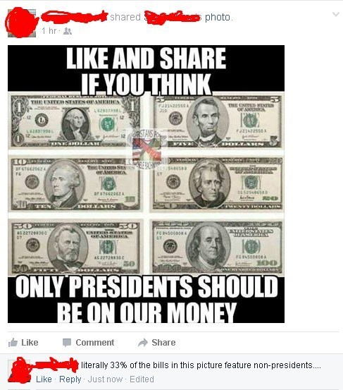 presidents facebook money - 8773325312