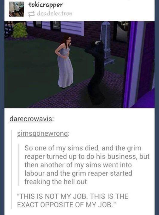 grim reaper Sims video games video game logic - 8773352192