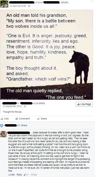 pizza,failbook,facebook,wolf