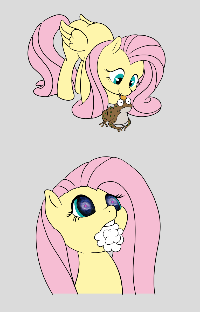 fluttershy tripping balls psychoactive toad - 8773385728