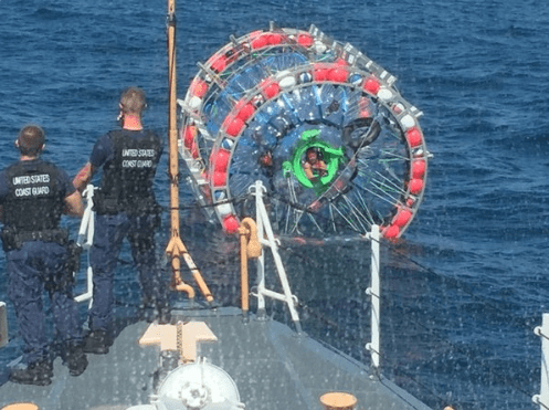 bubble running rescue Florida Man Trying to Run to Bermuda in a Bubble Was Rescued by the Coast Guard (Again)