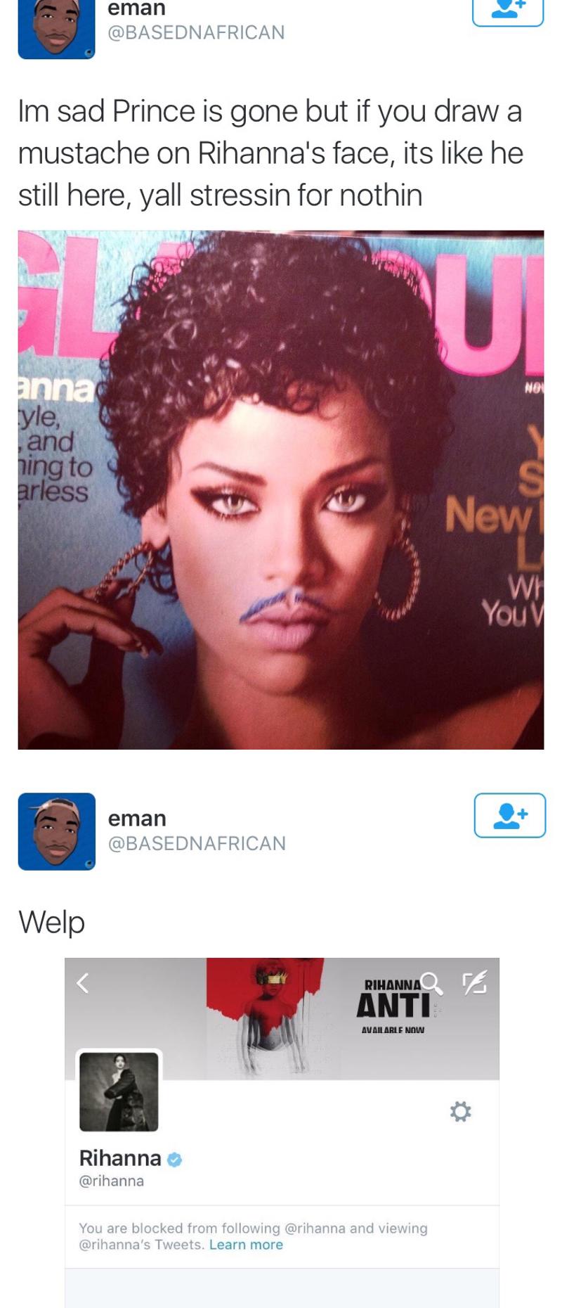 mustache twitter prince rihanna - 8773516544