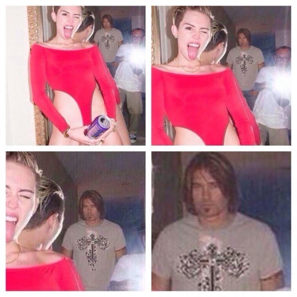 billy ray cyrus has a face of regret looking at miley