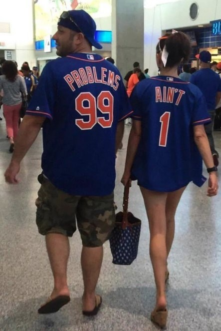 99 problems mets fan customized jersey mlb baseball
