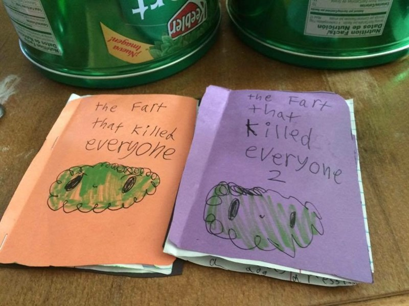 kids writes two part series of fart that killed everyone