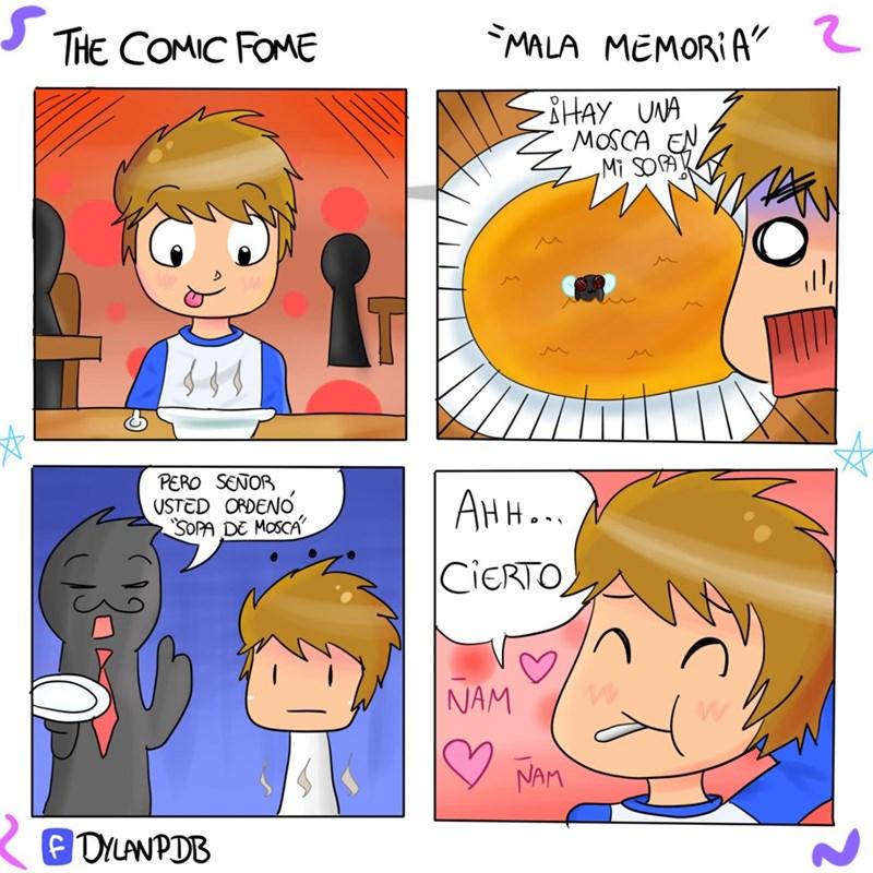 mosca en la sopa