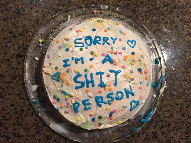 image cake apology At Least You Can Admit It?