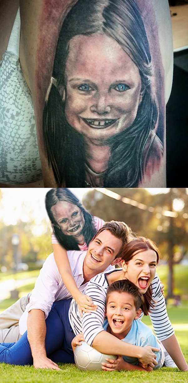 family parenting tattoosm ugliest tattoos - 8773857536