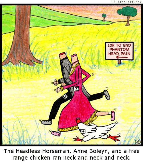 web-comics-headless-racing-neck-to-neck-chicken
