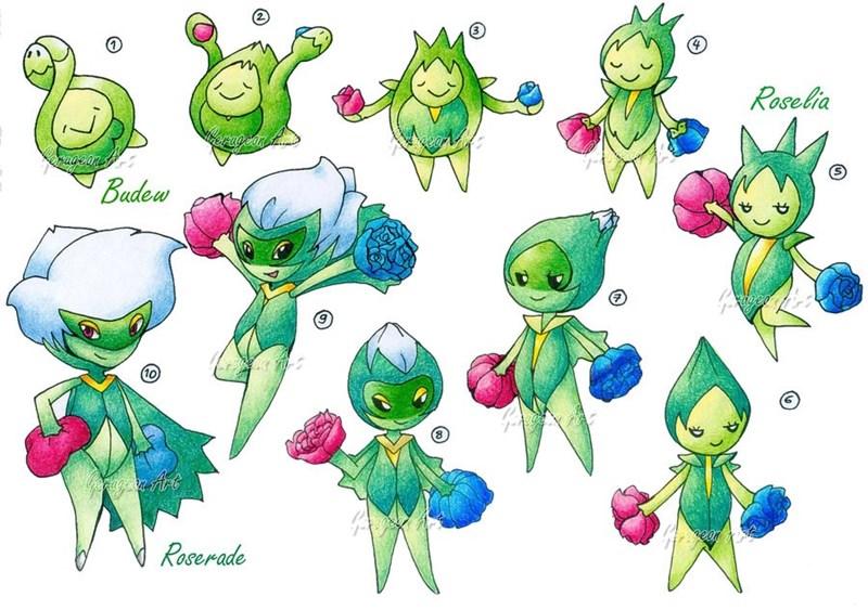 Pokémon roselia pokémon logic nintendo - 8773979904