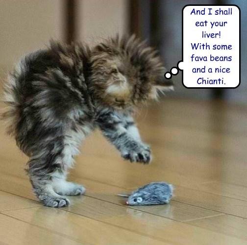 caption Cats fava beans mouse - 8774050816