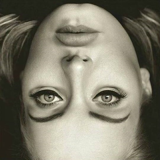 optical illusion adele image This Upside Down Picture of Adele Looks Like a Monster When Turned Right Side Up