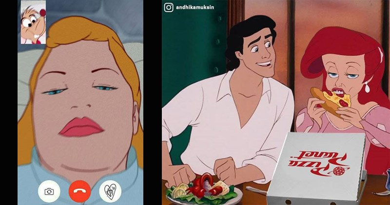 Funny illustrations, Disney princesses