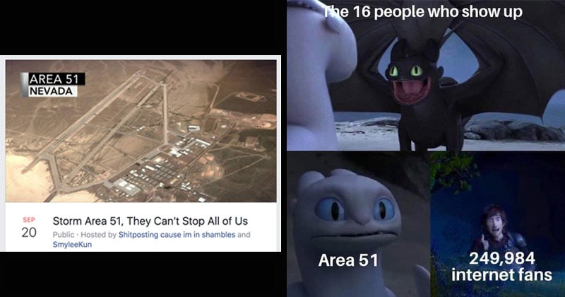 "Funny memes about ""Storm Area 51"" Facebook group"