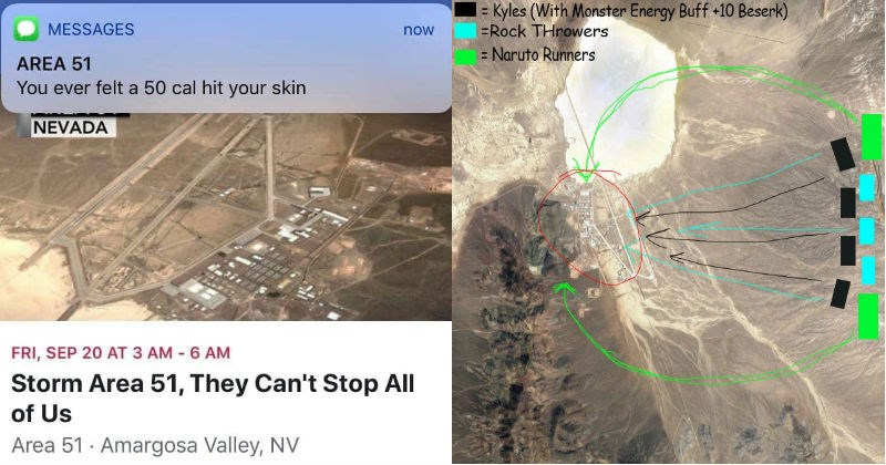 A viral Facebook event has over 200,000 people confirmed to storm Area 51.