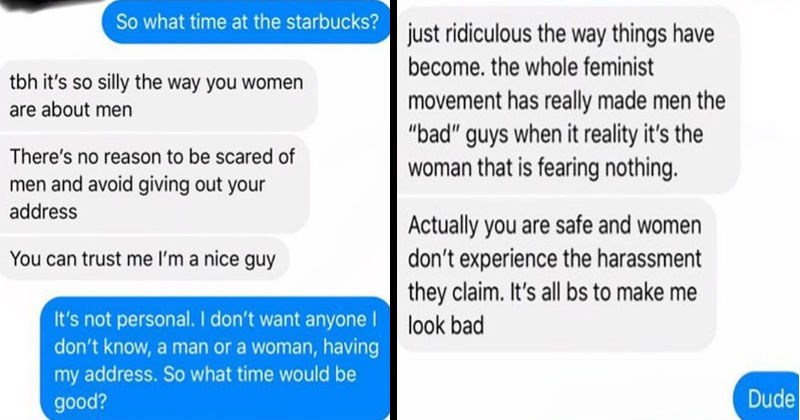 texts by nice guy being creepy