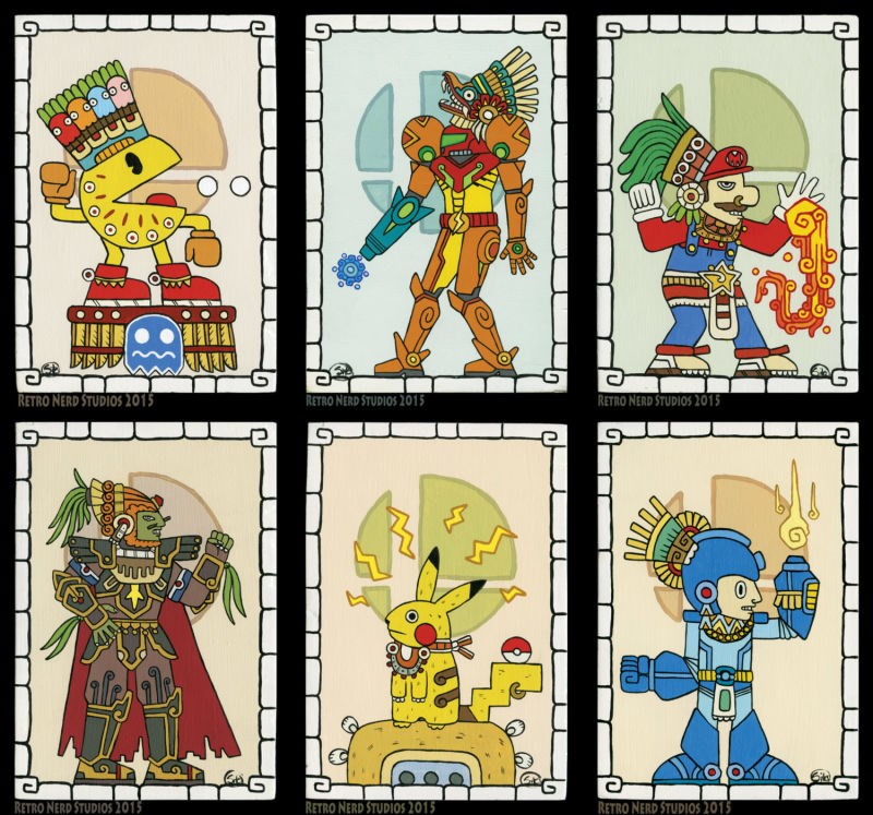 samus,mayan,art,super smash bros,Fan Art,mega man,pikachu,video games,mario,win