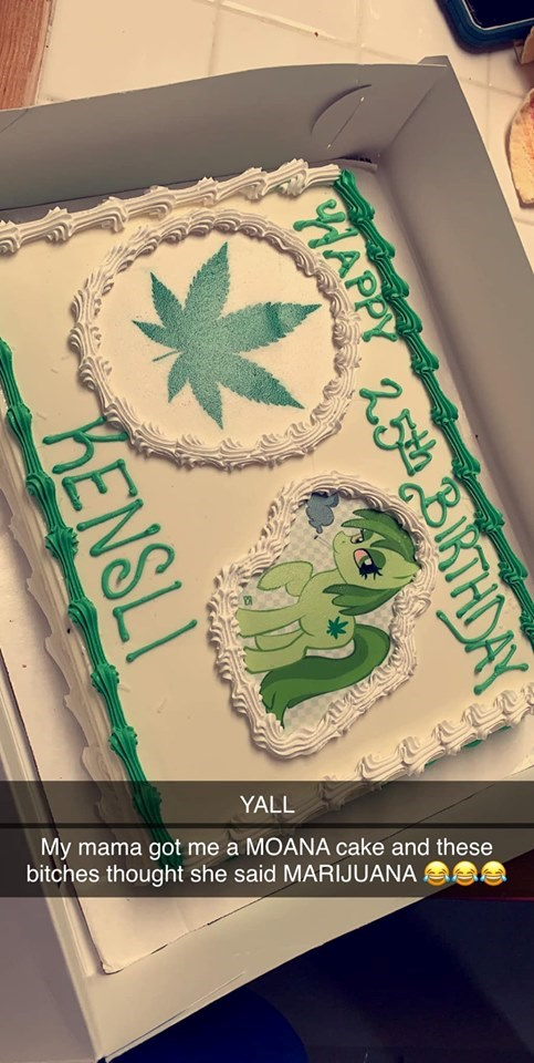 moana marijuana birthday cake