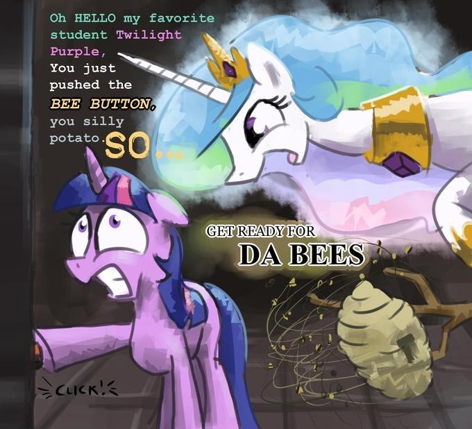 twilight sparkle,bees,princess celestia