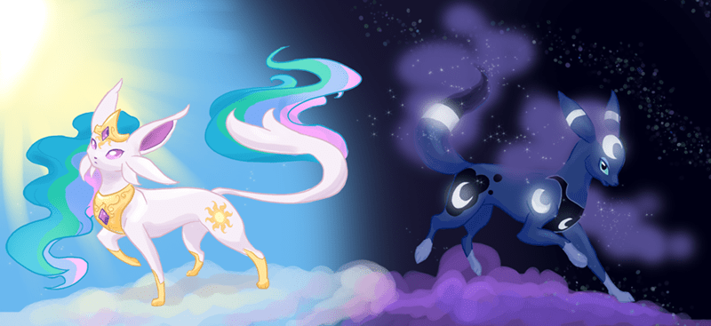 Pokémon,princess luna,espeon,princess celestia,umbreon