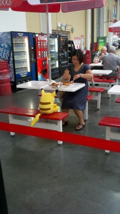 pikachu-eating-at-table-pokemon-in-real-life