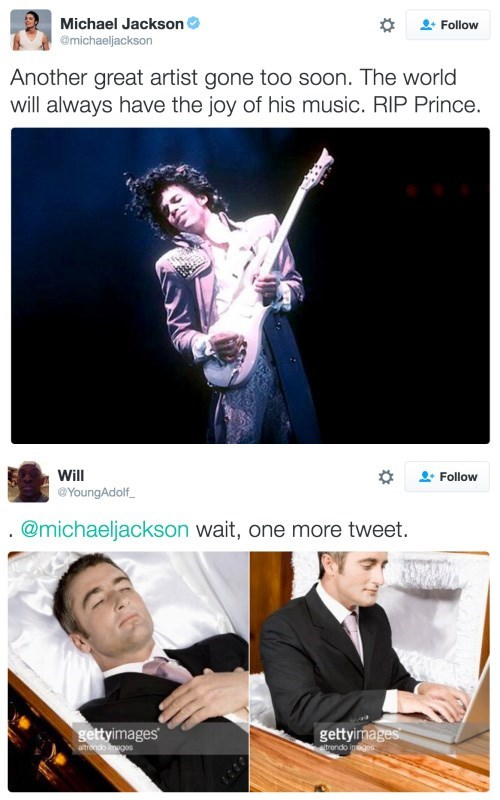 verified goodbye to prince from Michael Jackson