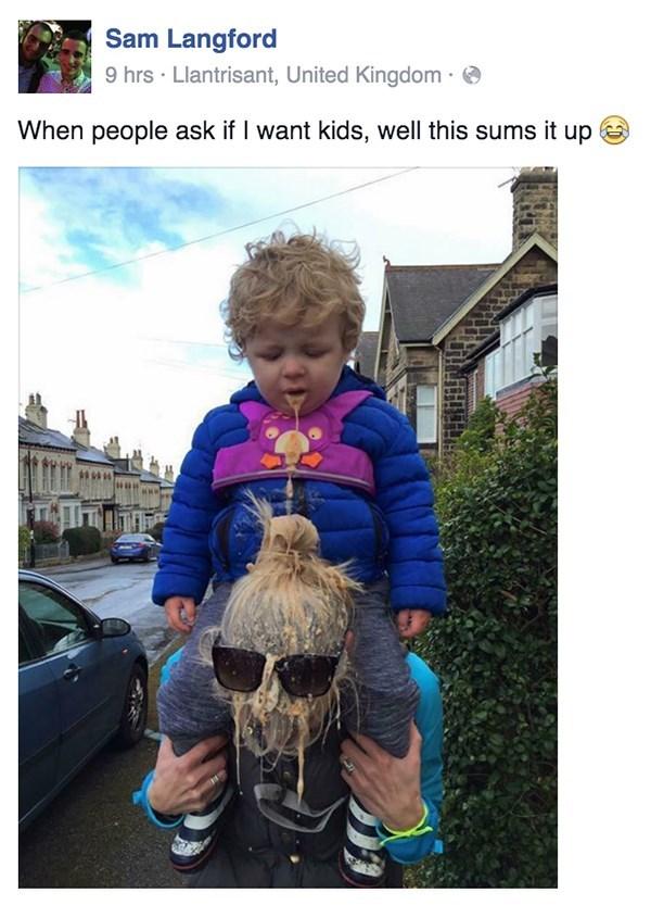 Babies puke parenting facebook - 8792826112