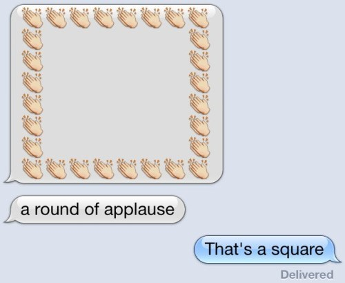 image puns shapes You're a Square!