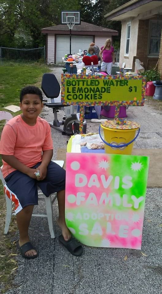 adoption parenting yard sale family lemonade stand