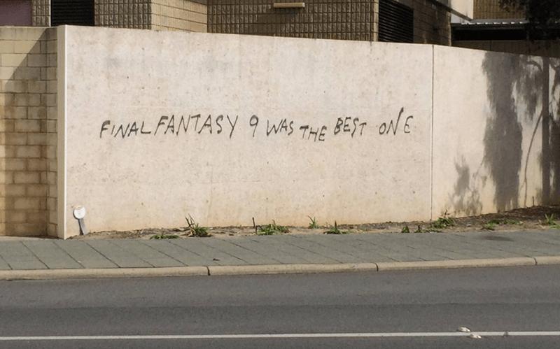 final fantasy,graffiti,video games,funny