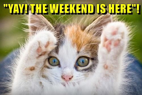 """YAY! THE WEEKEND IS HERE""!"