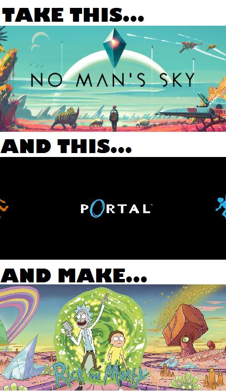 cartoons-rick-and-morty-no-mans-sky-portal-video-games