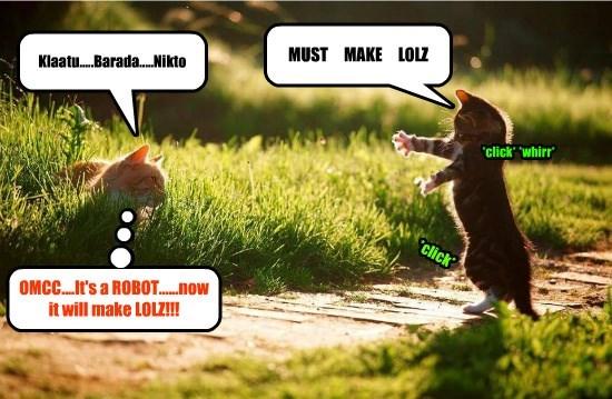 klaatu,robot,caption,Cats